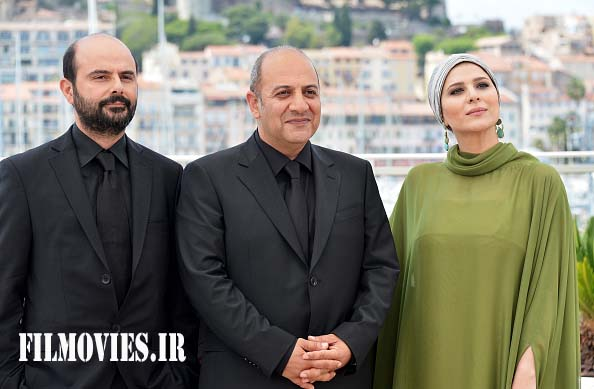 "CANNES, FRANCE - MAY 18: (L-R) Actor Ali Mosaffa, actress Sahar Dolatshahi and director Behnam Behzadi attend the ""Inversion"" photocall during the 69th Annual Cannes Film Festival at the Palais des Festivals on May 18, 2016 in Cannes, France. (Photo by Dominique Charriau/WireImage)"
